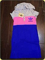 Платье женское с капюшоном Adidas копия (К9763), фото 1