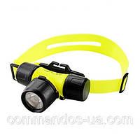 Ліхтарик налобний для дайвінгу Police Bailong BL-6800 1500W BL6800, жовтий, фото 1