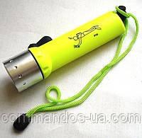 Підводний ліхтар для полювання, дайвінгу на акумуляторі police 2000W Lum, жовтий, фото 1