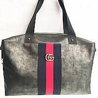 Брендовые сумки Gucci швейка (черный)30*40, фото 1