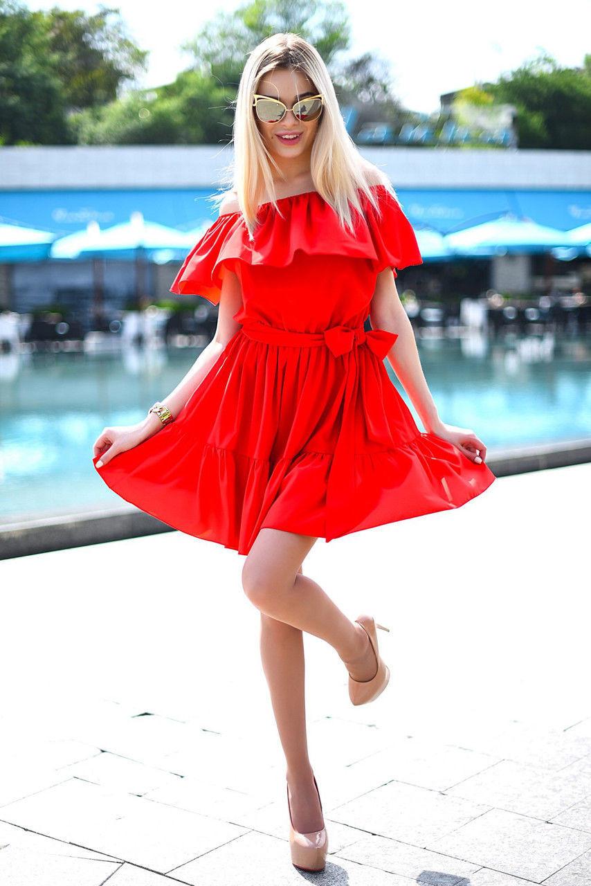 Платье женское короткое летнее из полированного шелка (К10212)