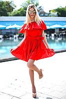 Платье женское короткое летнее из полированного шелка (К10212), фото 1