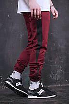 Штаны спортивные мужские Rocky (бордо), фото 2