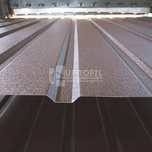 Профнастил стеновой ПС10 для забора Коричневый RAL 8017 матовый 0.40 мм., фото 2