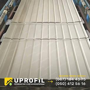 Профнастил стеновой ПС10 для забора Белый RAL 9003 глянец 0.45 мм., фото 2