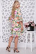 Женское ботальное платье Венесуэла цветочный принт / размер 50,52,54, фото 2