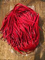 Шнуровка воскованная красная плоская