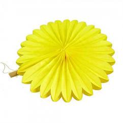 Веерный Круг тишью (желтый) 20 см