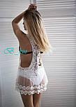 Женская белая пляжная туника, фото 2