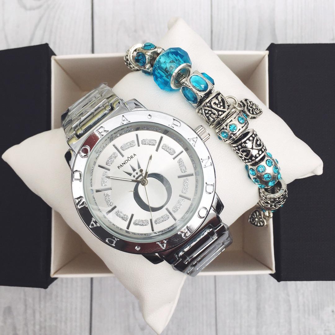 Отличное предложение! Комплект часы + Браслет Pandora