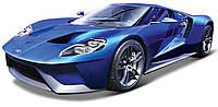 Игровая автомодель Ford GT со светом и звуком (синий), 1:24, Maisto