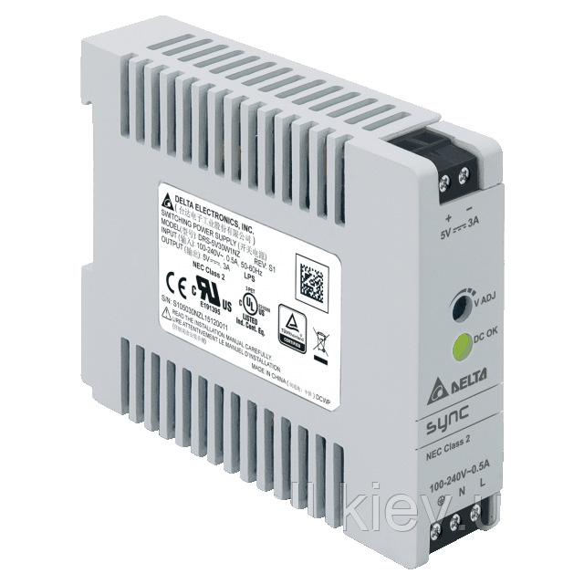 DRS-24V30W1NZ Блок питания на Din-рейку Delta Electronics 24В, 1,25A