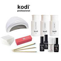 """Стартовый набор для покрытия ногтей гель лаком Kodi с лампой SUN One 48 w """"№12"""""""