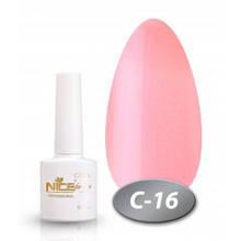 """Гель-лак Nice for you """"Cool"""" С-16 (нежно-розовый, жемчужный), 8.5 мл"""