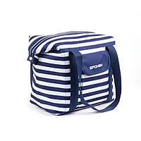 Пляжная сумка Spokey San Remo (original) Польша, бело-зеленая, термосумка, фото 1