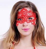 Маска кружевная для вечеринки, готический стиль, красная, фото 1