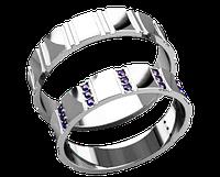 Кольца парные,обручальные Полосы 20033