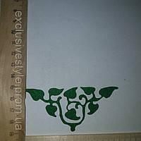 Термонаклейка зеленая виноградная ветка