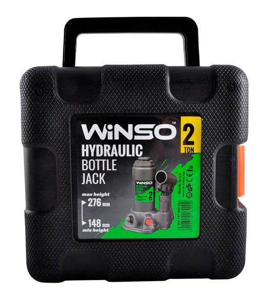 Домкрат гідравлічний WINSO (бутилочний) 2т, 148/278мм, пластиковий кейс