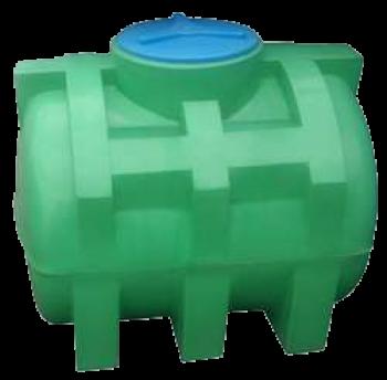 Емкость 250 л горизонтальная зеленая
