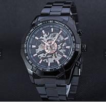 Мужские механические часы Winner автоподзаводом черные