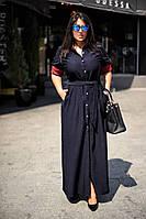 Платье женское длинное коттоновое на кнопках (К11292), фото 1