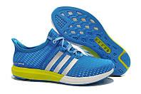 Мужские кроссовки Adidas Climacool Gazelle Boost Blue/Yellow РЕПЛИКА ААА