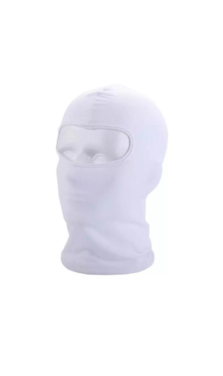 Универсальная защита для лица от ветра/балаклава/подшлемник (Белый)