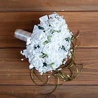 Букет-дублёр на свадьбу с белыми розами