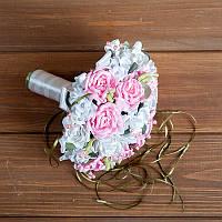 Свадебный букет-дублер с розовыми розами