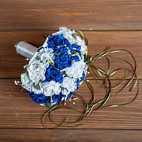 Свадебный букет-дублер с синими розами