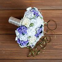 Свадебный букет-дублер с сиреневыми розами