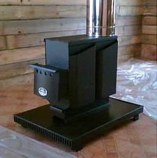Отопительная варочная печь на дровах Т-100, фото 3