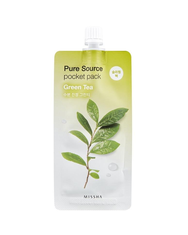 Ночная маска с экстрактом зеленого чая Missha Pure Source Pocket Pack Green Tea - 10мл