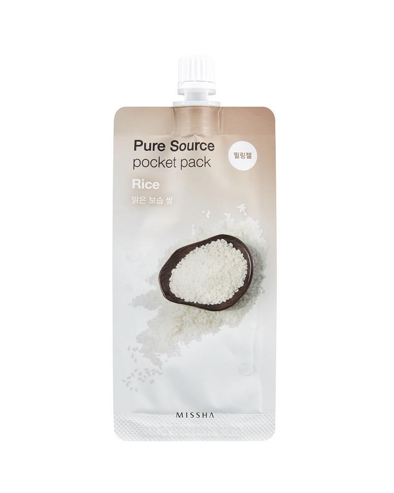Ночная маска с экстрактом риса Missha Pure Source Pocket Pack Rice - 10мл
