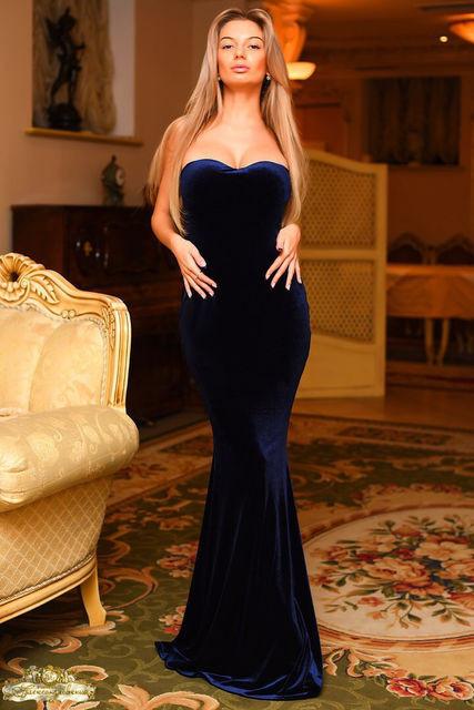 Вечернее бархатное платье (К11941)