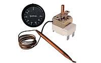 FSTB 75C — Термостат для бойлера, капиллярный с ручкой, Toff=75°С, L=850мм, однофазный, 250V 16A, Турция