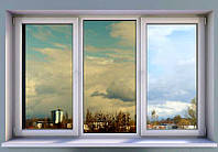 Окно металлопластиковое трехстворчатое Rehau 60