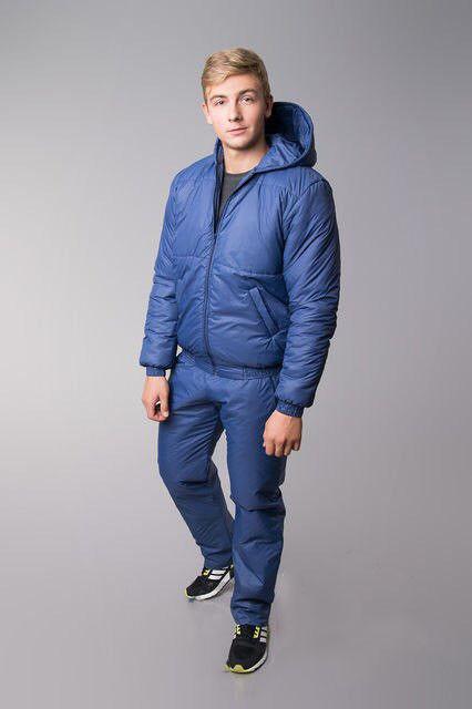 Теплый мужской спортивный костюм  (К12223)