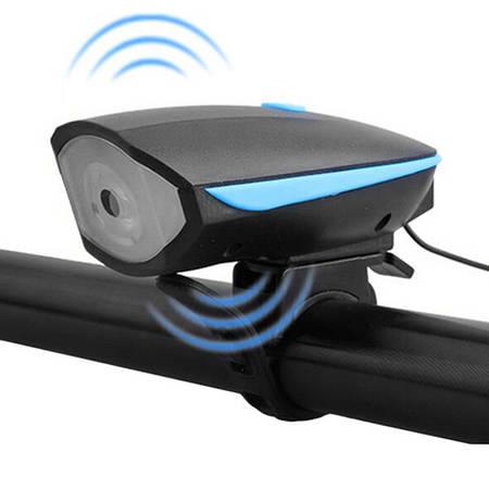 Фара+сигнал передняя FY-058, вынос. кнопка, аккум, ЗУ micro USB