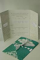 Приглашение на свадьбу в мятном цвете