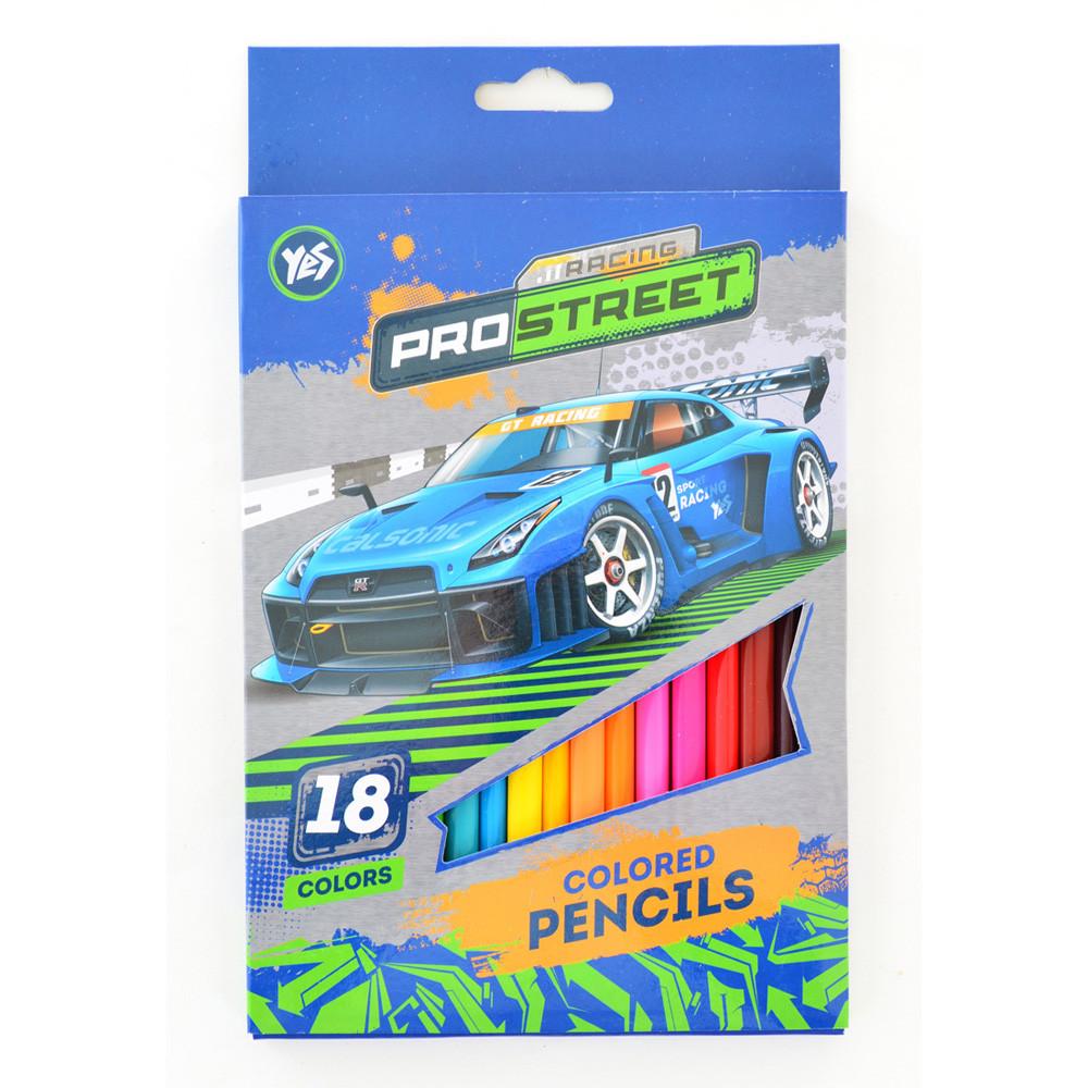 "Карандаши YES 290456 ""Street racing"", 18 цветов (Y)"