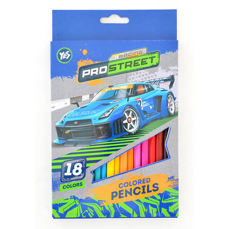 "Карандаши YES 290456 ""Street racing"", 18 цветов (Y), фото 2"