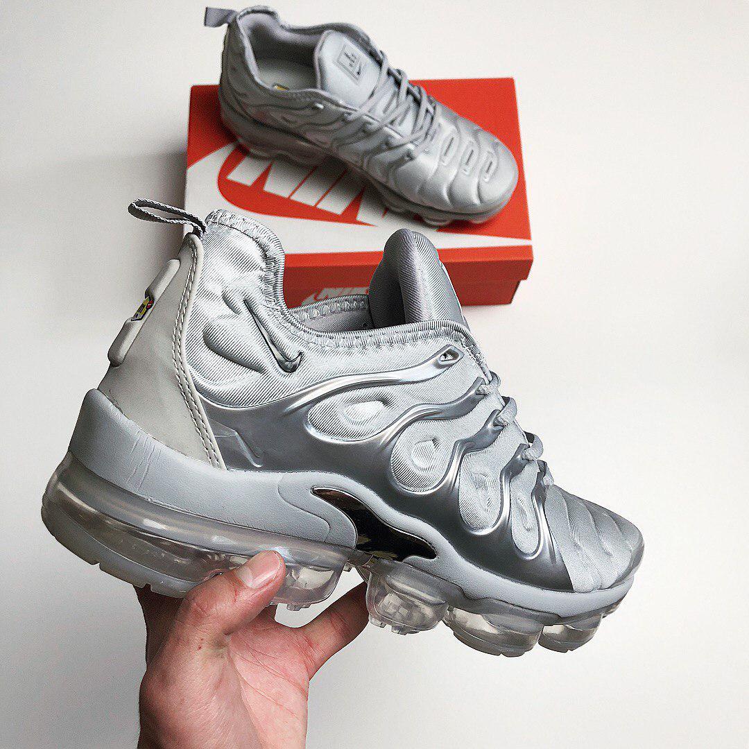 online retailer e0643 cd38b Nike Air VaporMax Tn Plus Grey | кроссовки мужские и женские; спортивные;  летние; серые - Bigl.ua