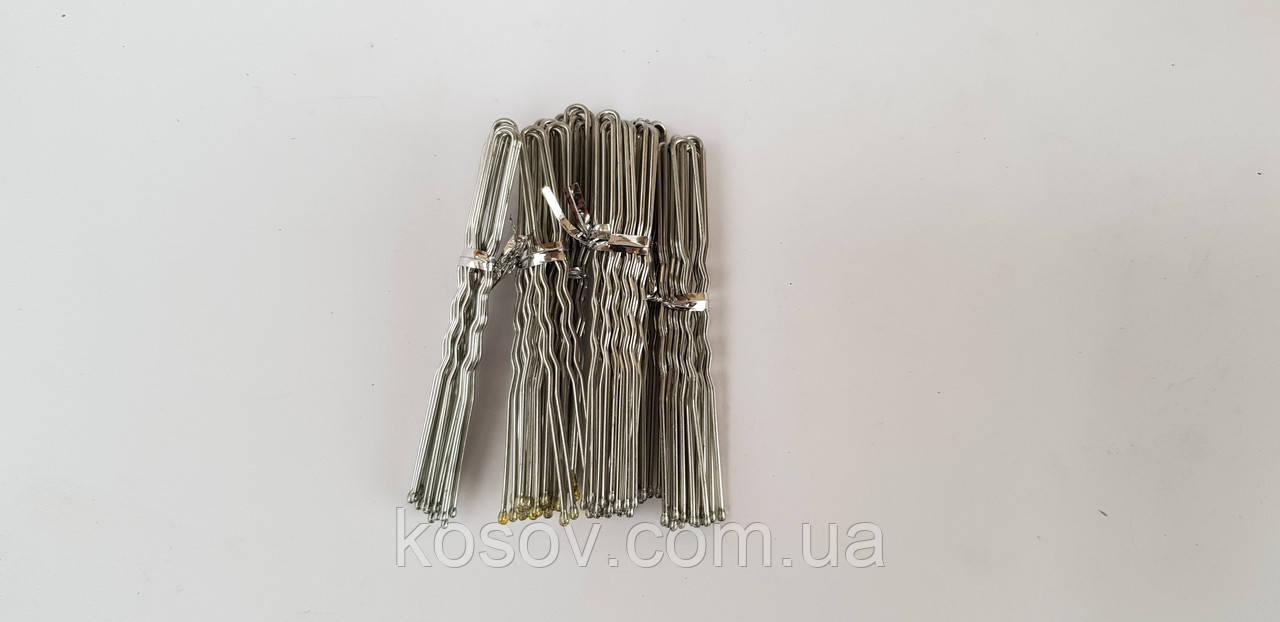 Шпилька для волос 8см серебряная (500 шт)