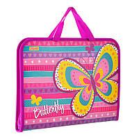 """Папка-портфель 1 Вересня 491409 """"Bright butterfly"""" (Y)"""