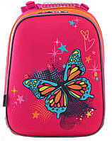 Красочный рюкзак 1 Вересня H-12 Butterfly blue, 554579, розовый