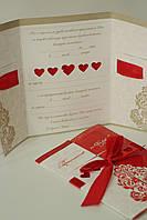 Приглашение на свадьбу в красном цвете