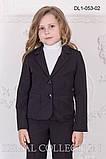 Классический Школьный Жакет для девочек 122-146р, фото 3