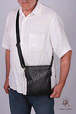 Мужская кожаная сумка Daniel Albaro 22*19 см, фото 3